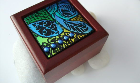 Mini Etched Trinket Box
